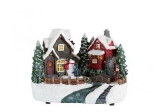 Svítící vánoční domek Winter -  18*12*14cm