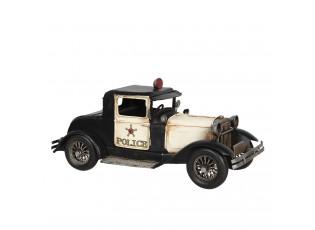Kovový retro model černé policejní auto Police - 32*14*15 cm