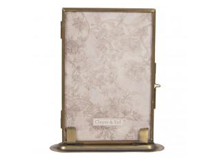 Stojací bronzový fotorámeček ve vintage stylu - 13*3*16 cm / 10*15 cm