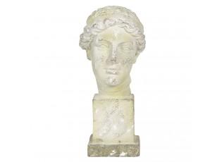 Kameninová antik busta na podstavci Hervé - 30*24*54 cm