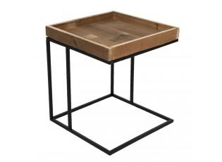 Dřevěno-kovový odkládací stolek Renart - 40*40*45 cm