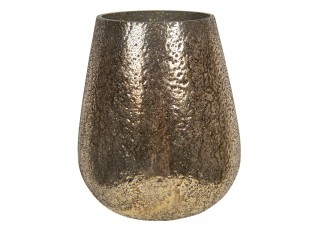Zlatá skleněná váza Maxence – Ø 16*18 cm