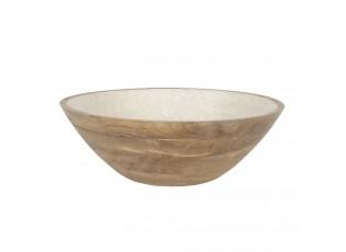 Dřevěná miska s perleťovým vnitřkem Penoi - Ø 33*11 cm