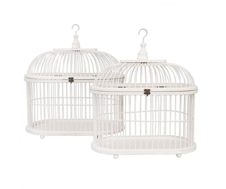Ptačí klece set 2ks - pr 48*28*55 cm/ 41*21*50