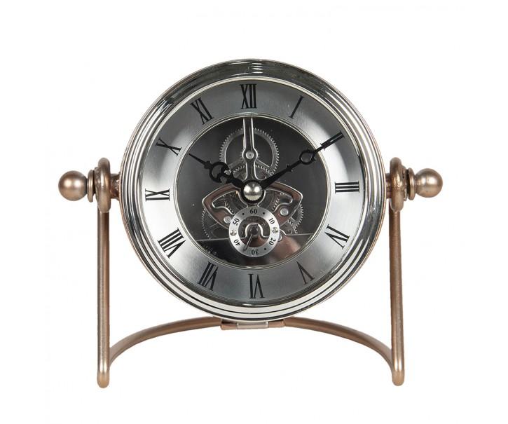 Měděné stolní hodiny s římskými číslicemi - 15*8*12 cm / 1*AA