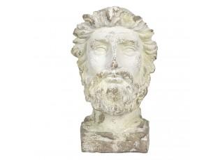 Krémová kameninové busta muže antik Hervé - 31*25*43 cm