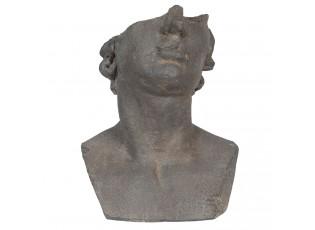 Kameninový květináč v designu antické busty Géraud  - 27*25*39 cm