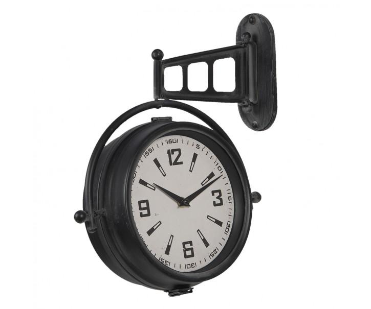 Kovové nástěnné závěsné hodiny ve vintage stylu - 29*9*35 cm