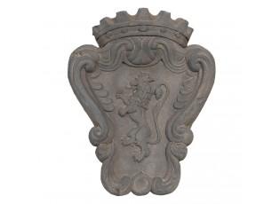Nástěnná dekorace erb se lvem - 38*12*48 cm