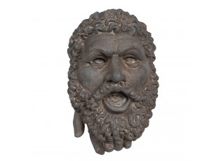 Nástěnná kameninová busta muže v antickém stylu Géraud - 29*19*42 cm