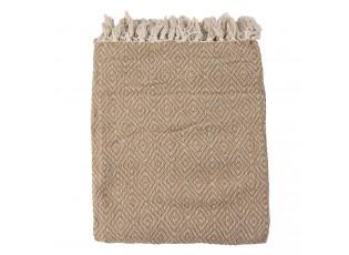 Béžovo-hnědý bavlněný přehoz - 125*150 cm