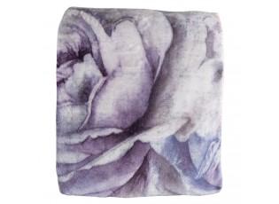 Světlý plyšový pléd s květy Fion - 130*180 cm