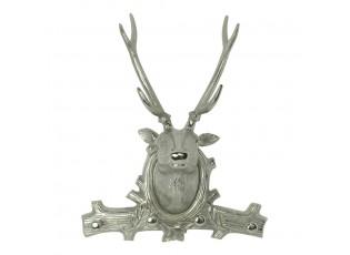 Stříbrný věšák s hlavou jelena - 39*17*49cm