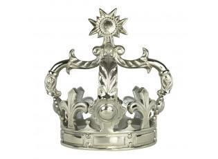 Dekorace stříbrné královské koruny - 38*38*43cm