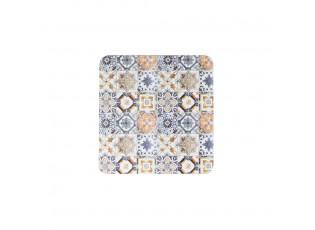 6ks pevné korkové podtácky s ornamenty Madrid - 10*10*0,4cm