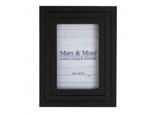 Černý jednoduchý fotorámeček (sada 3 ks) černý - 20*15*4,7 cm