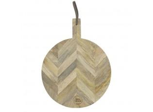 Kulaté prkénko ze dřeva - 64*52*1,7cm
