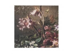 Sametový nástěnný panel s květy Florien - 45*45*1cm