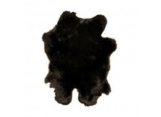 Dekorativní kožešina z černého králíka - 40*30*2cm
