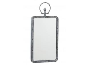 Nástěnné zrcadlo v kovovém rámu s patinou - 30*4*59 cm