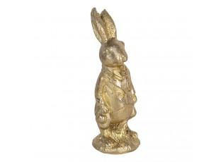 Zlatá dekorace králík ve fraku - 4*4*11 cm