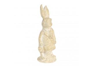 Velikonoční dekorace králíka v krémovo-žlutém provedení Métallique - 4*4*11 cm