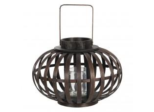 Závěsná dřevěná lucerna Eudo - Ø 34*23 cm