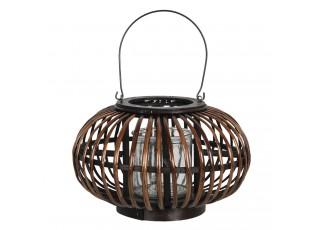 Dřevěná závěsná lucerna Eudo – Ø 34*21 cm
