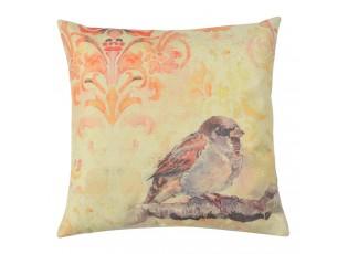 Povlak na polštář s motivem vrabčáka - 43*43 cm