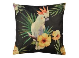 Povlak na polštář s motivem papouška kakadu - 43*43 cm
