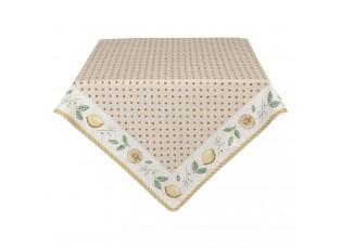 Ubrus z bavlny s motivem citronů Lemons & Leafs - 130*180 cm