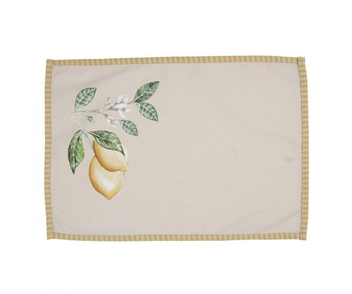Sada 6 bavlněných prostírání s motivem citrónů Lemons & Leafs - 48*33 cm