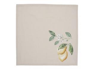 Set 6 bavlněných ubrousků s motivem citronů Lemons & Leafs - 40*40 cm