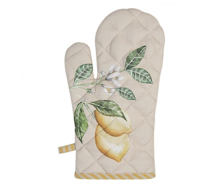 Bavlněná kuchyňská chňapka s citronem Lemons & Leafs - 16*30 cm