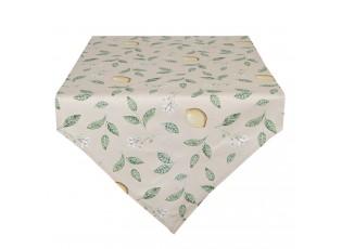 Bavlněný běhoun s motivem citrónů Lemons & Leafs - 50*160 cm