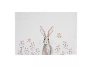 Sada bavlněných prostírání s motivem králíka Rustic Easter Bunny - 48*33 cm