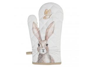Kuchyňská chňapka s motivem králíků Rustic Easter Bunny - 16*30 cm