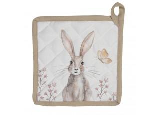 Podložka pod hrnec s motivem králíků Rustic Easter Bunny - 20*20 cm