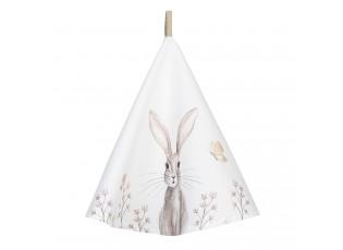 Kulatá utěrka s motivem králíčka Rustic Easter Bunny – Ø 80 cm