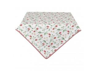 Bavlněný ubrus s motivem lesních jahod Wild Strawberries - 150*150 cm