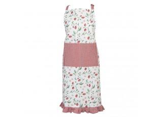 Kuchyňská zástěra s kostkovaným kanýrem Wild Strawberries - 70*85 cm