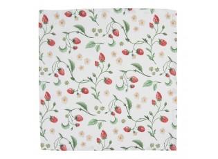 Set 6 bavlněných ubrousků s motivem lesních jahod Wild Strawberries - 40*40 cm