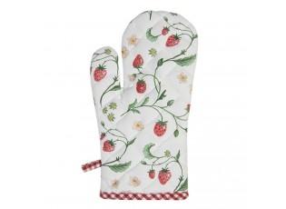Bavlněná chňapka s motivem lesních jahod Wild Strawberries - 16*30 cm