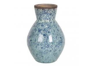 Vysoká keramická váza s kvítky ve vintage stylu Bleues – Ø 16*24 cm