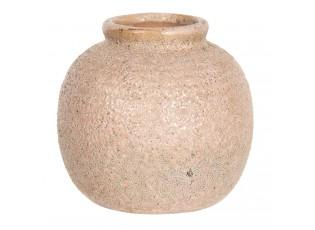 Starorůžová váza s patinou - Ø 8*8 cm