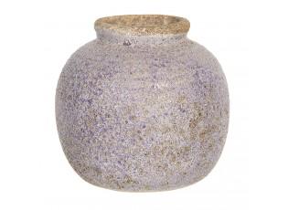 Retro váza s nádechem modré a odřeninami - Ø 8*8 cm