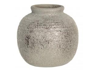 Šedivá váza Kelly s patinou a odřeninami - Ø 8*8 cm