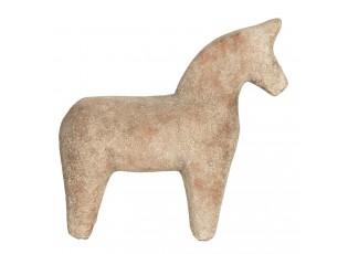 Keramická dekorace koně v cihlovo-hnědém provedení - 25*8*25 cm