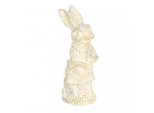 Dekorace béžový králík s patinou - 4*4*11 cm