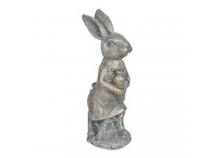 Dekorace vintage králík s patinou - 6*4*13 cm